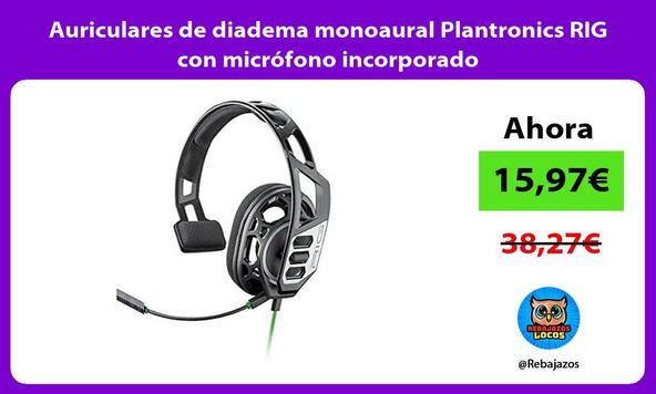 Auriculares de diadema monoaural Plantronics RIG con micrófono incorporado