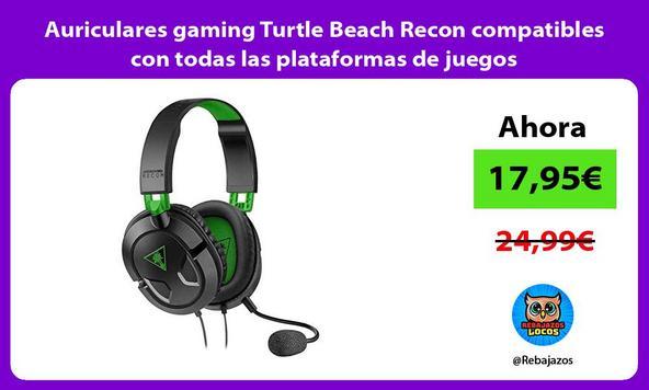 Auriculares gaming Turtle Beach Recon compatibles con todas las plataformas de juegos