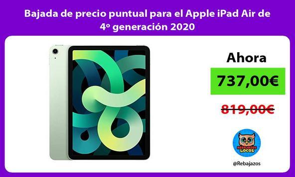 Bajada de precio puntual para el Apple iPad Air de 4º generación 2020