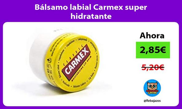 Bálsamo labial Carmex super hidratante