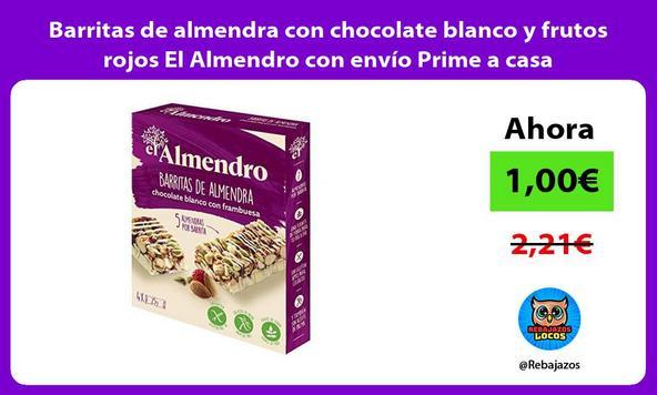 Barritas de almendra con chocolate blanco y frutos rojos El Almendro con envío Prime a casa