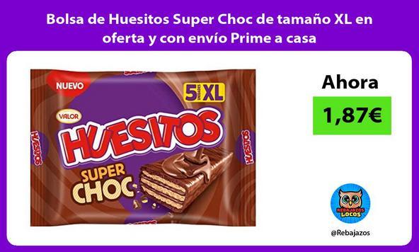 Bolsa de Huesitos Super Choc de tamaño XL en oferta y con envío Prime a casa