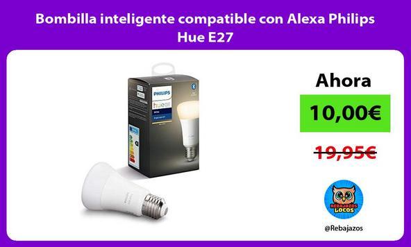 Bombilla inteligente compatible con Alexa Philips Hue E27