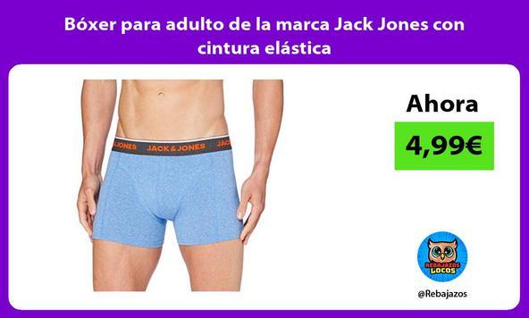 Bóxer para adulto de la marca Jack Jones con cintura elástica