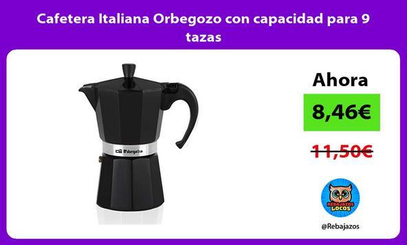 Cafetera Italiana Orbegozo con capacidad para 9 tazas