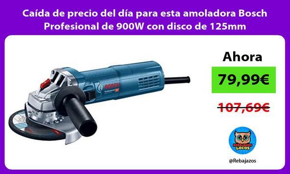 Caída de precio del día para esta amoladora Bosch Profesional de 900W con disco de 125mm