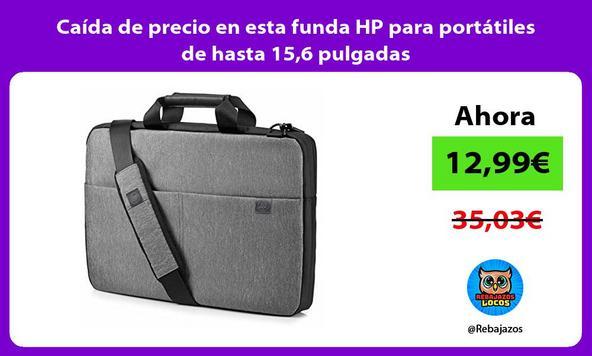 Caída de precio en esta funda HP para portátiles de hasta 15,6 pulgadas