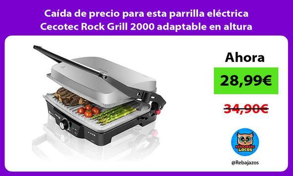 Caída de precio para esta parrilla eléctrica Cecotec Rock Grill 2000 adaptable en altura