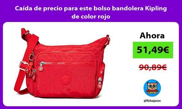 Caída de precio para este bolso bandolera Kipling de color rojo