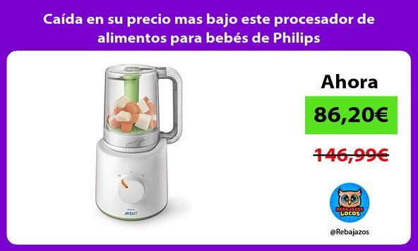 Caída en su precio mas bajo este procesador de alimentos para bebés de Philips