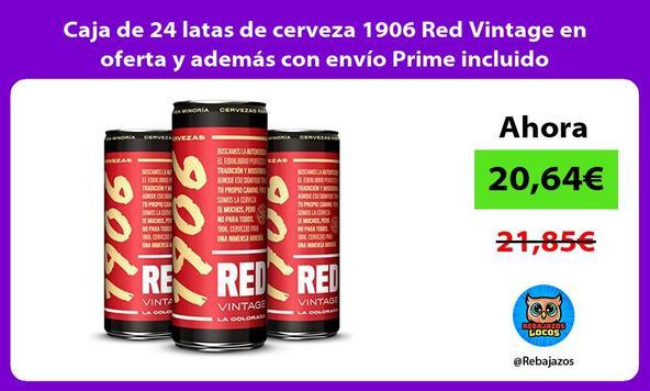 Caja de 24 latas de cerveza 1906 Red Vintage en oferta y además con envío Prime incluido