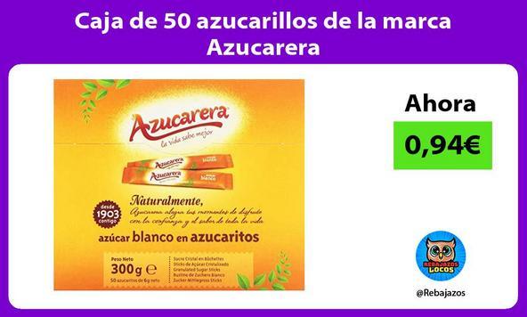 Caja de 50 azucarillos de la marca Azucarera