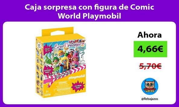 Caja sorpresa con figura de Comic World Playmobil