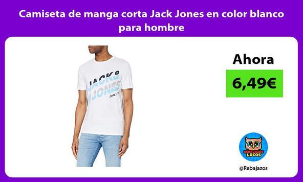 Camiseta de manga corta Jack Jones en color blanco para hombre
