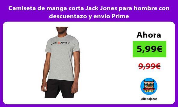 Camiseta de manga corta Jack Jones para hombre con descuentazo y envío Prime