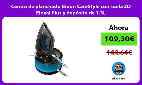 Centro de planchado Braun CareStyle con suela 3D Eloxal Plus y depósito de 1.3L
