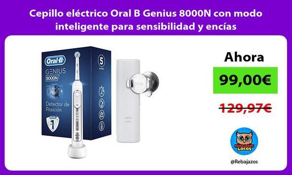 Cepillo eléctrico Oral B Genius 8000N con modo inteligente para sensibilidad y encías