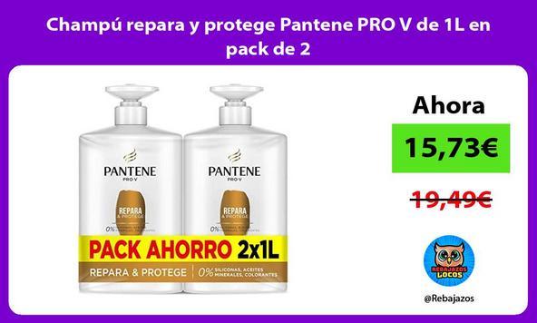 Champú repara y protege Pantene PRO V de 1L en pack de 2