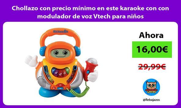 Chollazo con precio mínimo en este karaoke con con modulador de voz Vtech para niños