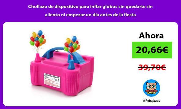 Chollazo de dispositivo para inflar globos sin quedarte sin aliento ni empezar un día antes de la fiesta