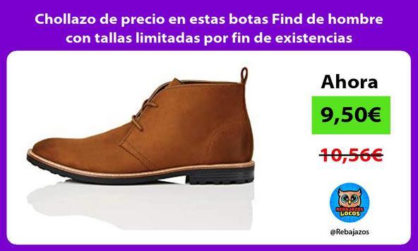 Chollazo de precio en estas botas Find de hombre con tallas limitadas por fin de existencias