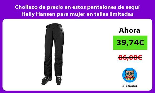 Chollazo de precio en estos pantalones de esquí Helly Hansen para mujer en tallas limitadas