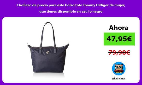 Chollazo de precio para este bolso tote Tommy Hilfiger de mujer, que tienes disponible en azul o negro
