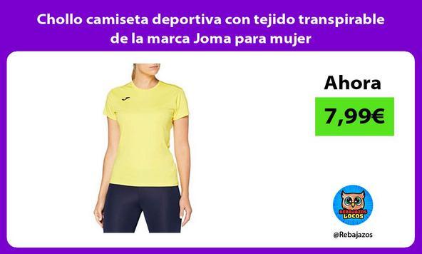 Chollo camiseta deportiva con tejido transpirable de la marca Joma para mujer