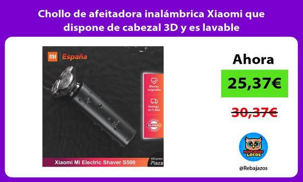 Chollo de afeitadora inalámbrica Xiaomi que dispone de cabezal 3D y es lavable