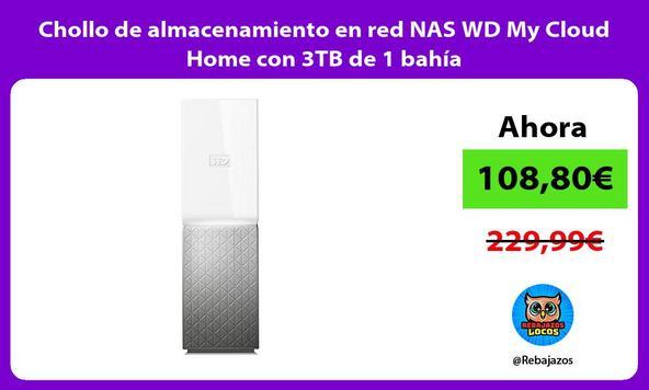 Chollo de almacenamiento en red NAS WD My Cloud Home con 3TB de 1 bahía