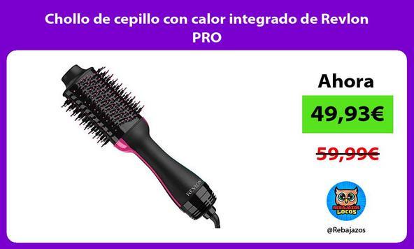 Chollo de cepillo con calor integrado de Revlon PRO