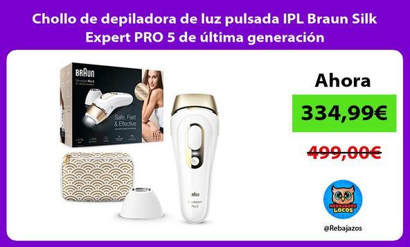 Chollo de depiladora de luz pulsada IPL Braun Silk Expert PRO 5 de última generación