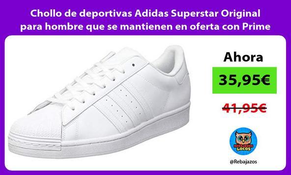 Chollo de deportivas Adidas Superstar Original para hombre que se mantienen en oferta con Prime