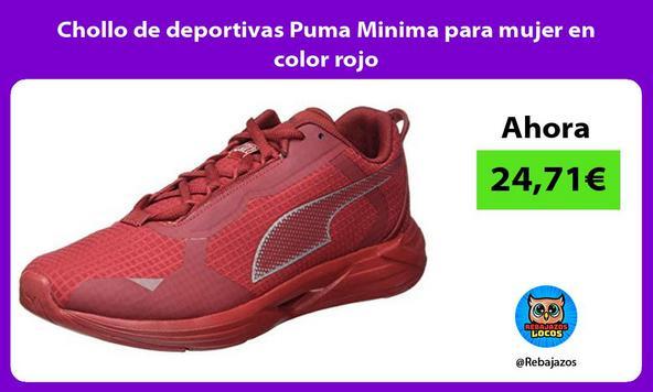 Chollo de deportivas Puma Minima para mujer en color rojo