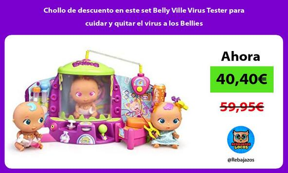 Chollo de descuento en este set Belly Ville Virus Tester para cuidar y quitar el virus a los Bellies
