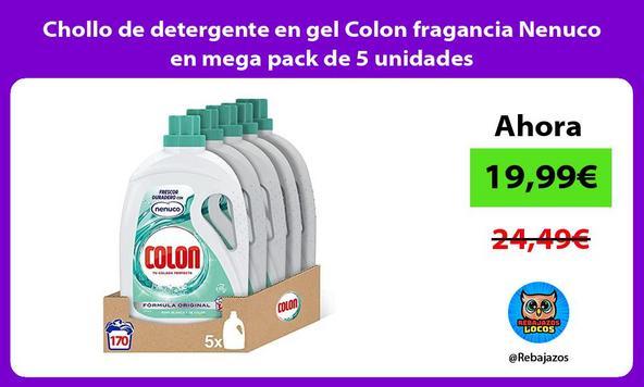 Chollo de detergente en gel Colon fragancia Nenuco en mega pack de 5 unidades