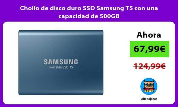 Chollo de disco duro SSD Samsung T5 con una capacidad de 500GB