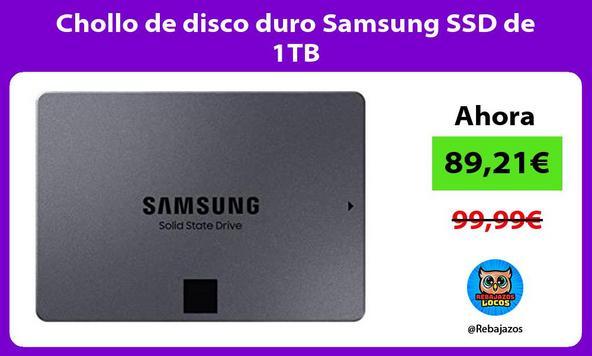 Chollo de disco duro Samsung SSD de 1TB