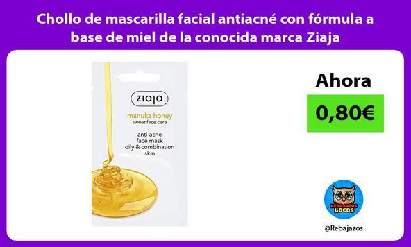Chollo de mascarilla facial antiacné con fórmula a base de miel de la conocida marca Ziaja