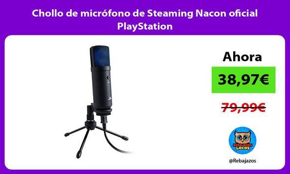 Chollo de micrófono de Steaming Nacon oficial PlayStation