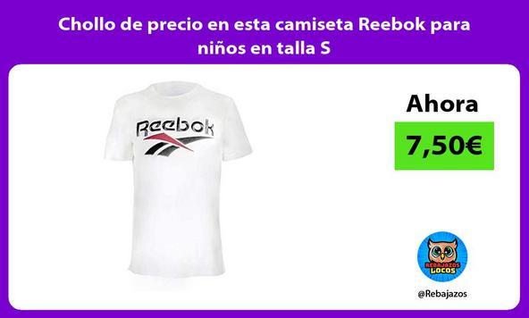 Chollo de precio en esta camiseta Reebok para niños en talla S