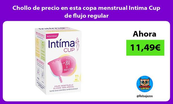 Chollo de precio en esta copa menstrual Intima Cup de flujo regular