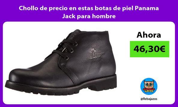 Chollo de precio en estas botas de piel Panama Jack para hombre