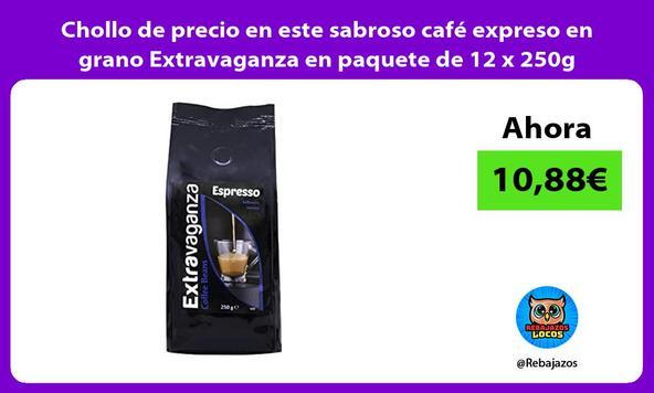Chollo de precio en este sabroso café expreso en grano Extravaganza en paquete de 12 x 250g