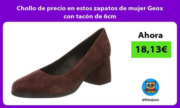 Chollo de precio en estos zapatos de mujer Geox con tacón de 6cm