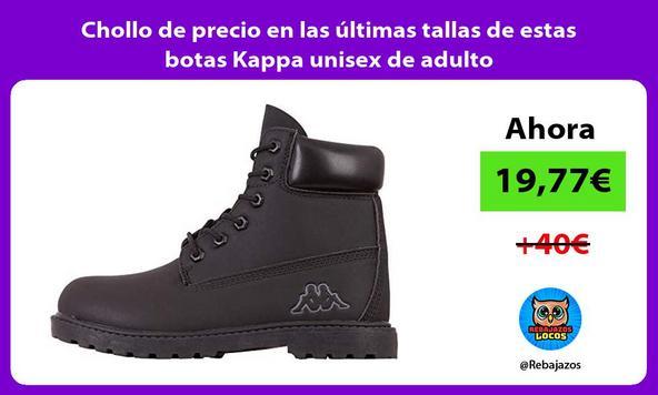Chollo de precio en las últimas tallas de estas botas Kappa unisex de adulto