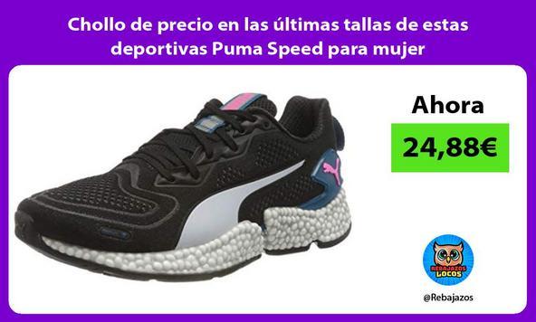 Chollo de precio en las últimas tallas de estas deportivas Puma Speed para mujer