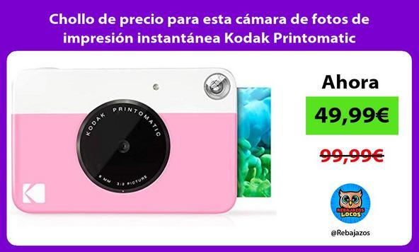 Chollo de precio para esta cámara de fotos de impresión instantánea Kodak Printomatic