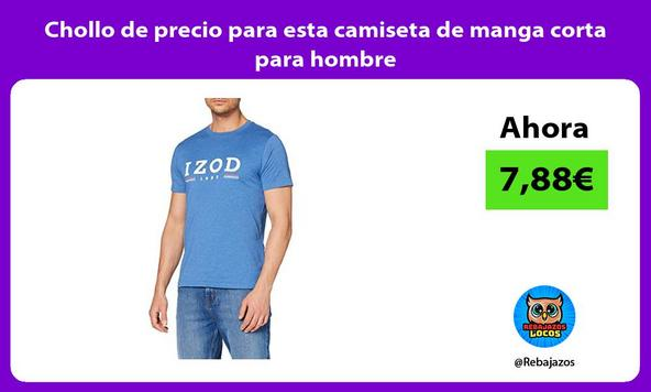 Chollo de precio para esta camiseta de manga corta para hombre
