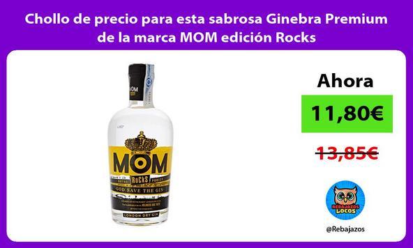 Chollo de precio para esta sabrosa Ginebra Premium de la marca MOM edición Rocks